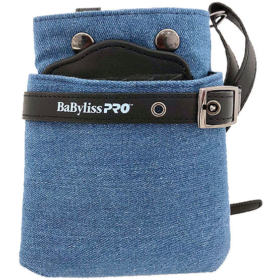 DENIM BELTED ACCESSORY BAG