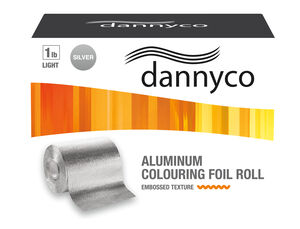 DANNYCO ROUGH-TEXTURE FOIL ROLLS IN DISPENSER BOXES WITH BUILT-IN FOIL CUTTER, LIGHT, 1 LB, 361 FT/PI