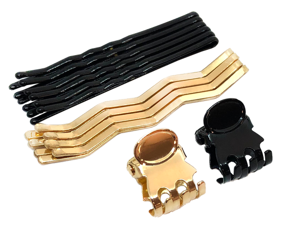 ASSORTED  HAIR PINS & CLIPS