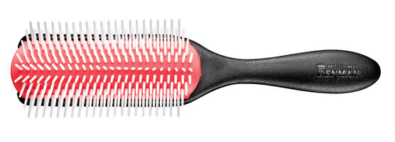 DENMAN® DELUXE 9-ROW BRUSH WITH A HEAVY-DUTY TEXTURED HANDLE