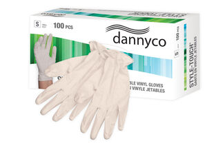 DANNYCO STYLE-TOUCH™ VINYL DISPOSABLE GLOVES