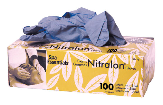 GRAHAM BEAUTY™ SPA ESSENTIALS®GANTS DE NITRILE BLEU NITRALON®  – GRAND