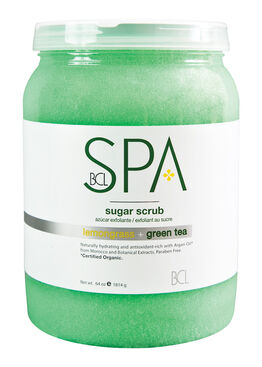 STEP 2 : LEMONGRASS & GREEN TEA SUGAR SCRUB 64 oz ( Purifying & Antioxidant-Rich )