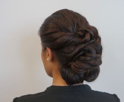 DONNA'S ELEGANT HOLIDAY UP-DO